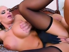 Attractive glamorous blonde bombshell Phoenix Marie with big juicy tits and...