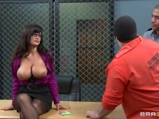 This teacher is taking rehabilitation classes for these three very serious criminals. She goes and removes her blouse and all these criminals make her sit on the table, they start groping her pressing her boobs very tightly. While one other criminal lifts her skirt and starts licking her pussy. This is definitely a good recreation for these criminals.