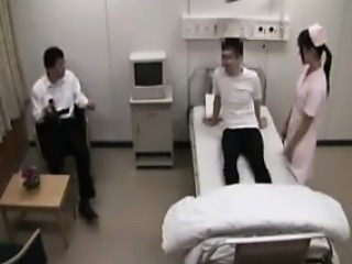 Delightful Asian nurse is in heaven when a hard cock drills
