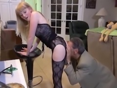 young blonde fucking much older man