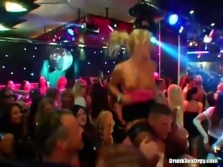 Striptease party turns into hardcore orgy action