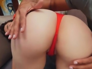 Phat ass white girl screwed real good by throbbing cock