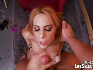 Sexy nurse rides her patient's cock reverse cowgirl style