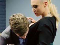 Nice Tits Blonde Breakroom Office Fuck CJ Jean