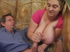 Massive tits Jerks off the teacher