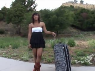 Ebony babe fucked hard on rap video casting