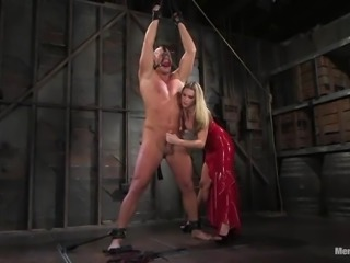 Christian gets his ass fisted and fucked by blonde mistress Harmony