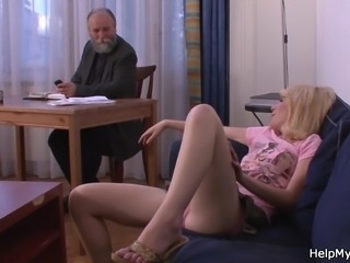 Older hubby pays to fuck his young wife