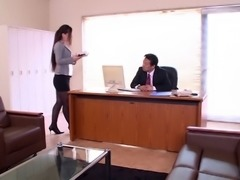 The worlds best Japanese secretary knows how to please her boss