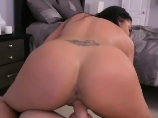 Charming big ass brunette latina Selena Santana gets fucked