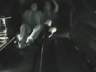 Captured fucking in a limousine