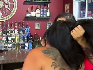 If you were dreaming about seeing some nice Latina lesbo sex with Kiara Mia and Nina Mercedez then you are in the right place where girls are going to lick right in a bar.