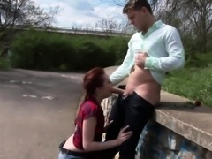Bizarre ginger whore piss