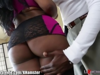 Lexington Steele on HUGE natural tits and Wet Pussy