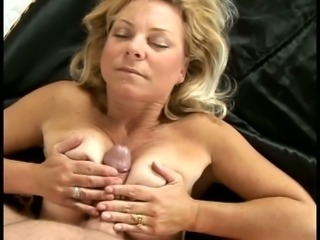 mature lady is fucking blinded with some cum