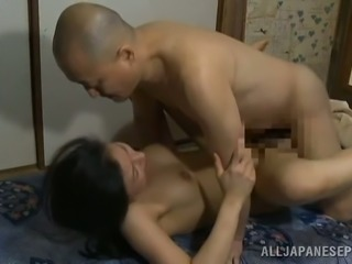 Japanese girl gets her vagina licked and drilled by bald guy