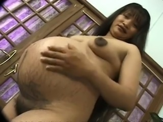 Pregnant Filipina gets her pussy fucked every which way