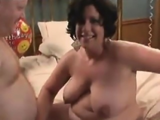 Fat fucked on birthday in movie that was homemade