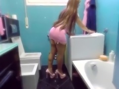 Housewife Gergeus Butt Garter Belt High Heels FF Stockings
