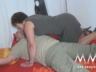Chubby mature whore rides long dick of her coworker with pleasure