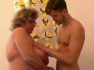 Amazing Big Tit BBW Granny Fucks