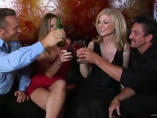 Hot MILF Wives Get Fucked Hard In Sexy Foursome