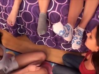 Lick feet