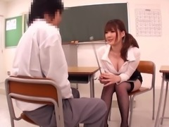 Busty and Sexy Japanese Teacher Fucking Her Student
