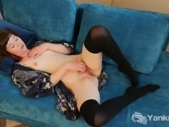 Kinky Turquoise Masturbating Her Hairy Pussy
