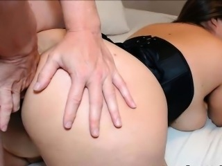 Hot Asian with Curvy Ass Anal Sex and Cum
