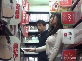 Accidental sex in the DVD store with a Japanese girl