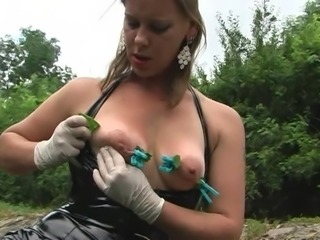 Extreme nettle play in outdoor