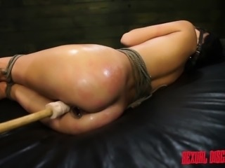 Submissive brunette Esmi Lee has a long dick invading her hungry ass