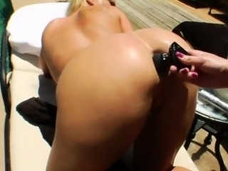Hot lesbians fill up their huge bums with cream and squirt i