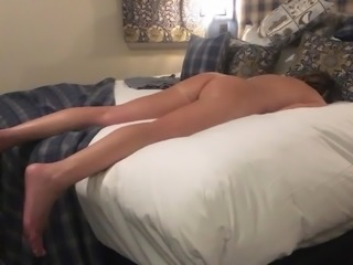 Oxfordshire Wife in Hotel Room