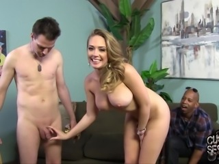 Delicious Kagney Linn Karter Mocks A Guy That Has A Small Dick