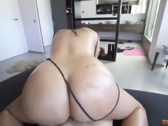 Fabulous bitch Kesha Ortega gives her head and gets laid in front of the mirror