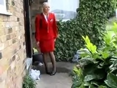 flight attendant has a piss