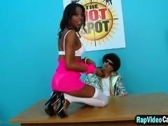 Ebony Dariel Dukes Casting Blowjob Fuck Interracial