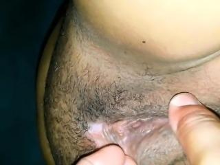 Husband fingering my clit
