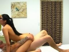 Busty Masseuse Brenna Sparks Enjoys Cock Of Client
