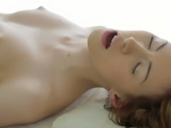 Red haired submissive GF Camila gets fucked in massage parlor tough