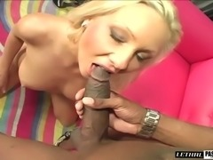 Blonde shaved pussy penetrated hardcore doggystyle