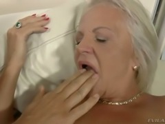 Mature blond bitch Shery got her anus slammed in mish and reverse cowgirl...