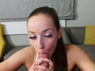 Hot like hell leggy brunette Jesse Lynn stimulates her clit with fingers...