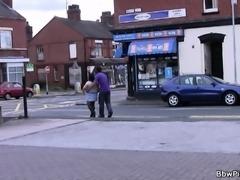 Black street hooker and plumper in fishnets