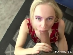 Kandi is eager to suck some dick. Thing is that she prefers old grandpas...