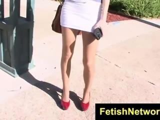 FetishNetwork Chloe Foster silky nylons