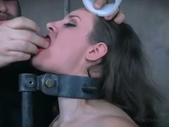 Daring mature woman tormented in hardcore BDSM clip