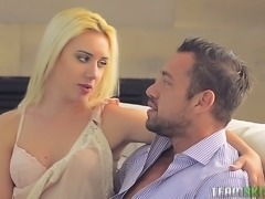 Perfectly shaped Brooke Underhill fucks passionately like a cowgirl after...